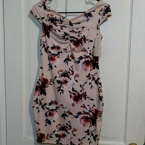 Pastel Pink Floral Dress